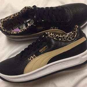 NEW Puma GV Special Black & Leopard shoes